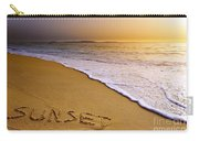 Sunset Beach Carry-all Pouch by Carlos Caetano