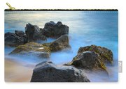 Sunset Beach Rocks Carry-all Pouch by Inge Johnsson