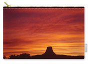 Sunset Behind Devil's Tower Carry-all Pouch