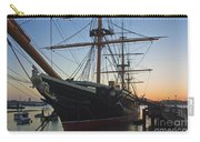 Sunset Behind Hms Warrior Carry-all Pouch