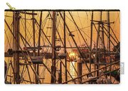 Sunset Boat Masts At Dock Morro Bay Marina Fine Art Photography Print Sale Carry-all Pouch