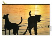 Sunset Dogs  Carry-all Pouch by Laura Fasulo