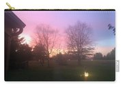 Sunset Elegant Fall Tree Show Skyview Resort Weekend Getaway To Poconos Pa America Usa Landscape Nav Carry-all Pouch