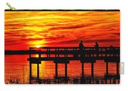 Sunset Fishing At The Pier Carry-all Pouch
