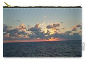 Sunset From The Carnival Triumph Carry-all Pouch