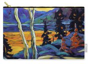 Sunset Geo Landscape Original Oil Painting By Prankearts Carry-all Pouch