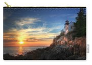 Sunset Glow At Bass Harbor Carry-all Pouch