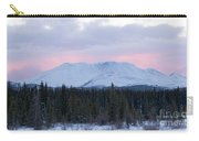 Sunset Glow Behind Winterly Little Peak Yt Canada Carry-all Pouch