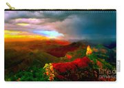 Sunset Imperial Peak North Grand Canyon Panorama Carry-all Pouch