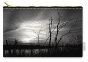 Sunset In Black And White Carry-all Pouch