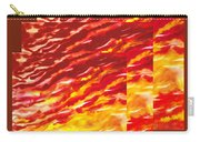 Sunset In Desert Abstract Collage  Carry-all Pouch