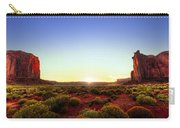 Sunset In Monument Valley Carry-all Pouch