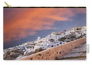 sunset in Oia Santorini Carry-all Pouch