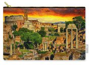 Sunset In Rome Carry-all Pouch by Stefano Senise