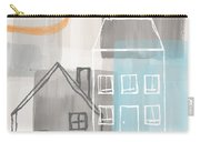 Sunset In The City Carry-all Pouch by Linda Woods