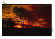 Sunset In The Field Carry-all Pouch