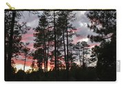 Sunset In The Pines Carry-all Pouch
