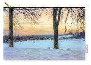 Sunset In The Snow Carry-all Pouch