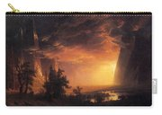 Sunset In The Yosemite Valley Carry-all Pouch