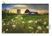 Sunset Lace Pastures Carry-all Pouch by Debra and Dave Vanderlaan