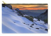 Sunset Light On The Snow Carry-all Pouch
