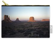 Sunset Light With Mittens And Desert In Monument Valley Arizona  Carry-all Pouch