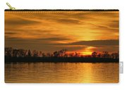 Sunset - Ohio River Carry-all Pouch by Sandy Keeton