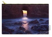 Sunset On Arch Rock In Pfeiffer Beach Big Sur In California. Carry-all Pouch