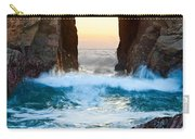 Sunset On Arch Rock In Pfeiffer Beach Big Sur. Carry-all Pouch