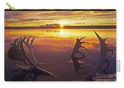 Sunset On Caribou Antlers In Whitefish Lake Carry-all Pouch