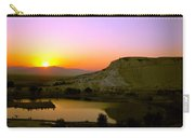 Sunset On Cotton Castles Carry-all Pouch