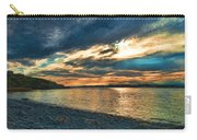 Sunset On Rocky Beach Carry-all Pouch