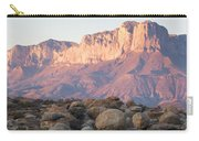 Sunset On The Guadalupe Mountains Carry-all Pouch