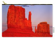 Sunset On The Mittens Carry-all Pouch