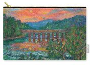 Sunset On The New River Carry-all Pouch by Kendall Kessler