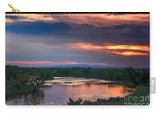 Sunset On The Payette  River Carry-all Pouch by Robert Bales