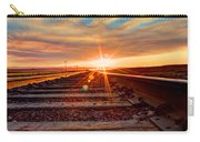 Sunset On The Rails Carry-all Pouch