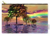 Sunset On Trees And Ocean Carry-all Pouch