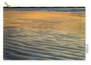 Sunset On Wet Sandy Beach Seascape Fine Art Photography Print  Carry-all Pouch