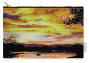 Sunset Over A Country Pond Carry-all Pouch