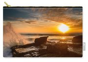 Sunset Over A Rough Sea I Carry-all Pouch