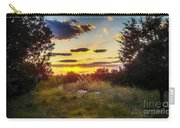 Sunset Over Field Of  Flowers Carry-all Pouch