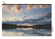 Sunset Over Flying Pond In Vienna Maine Carry-all Pouch by Keith Webber Jr
