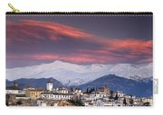 Sunset Over Granada And The Alhambra Castle Carry-all Pouch