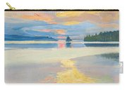 Sunset Over Lake Ruovesi Carry-all Pouch