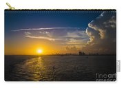 Sunset Over Miami From Out At Sea Carry-all Pouch