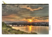 Sunset Over The Great Falls Carry-all Pouch