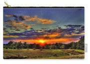 Sunset Over The Hay Field Carry-all Pouch