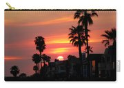 Sunset Over The Homes Of Newport Beach Carry-all Pouch