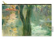 Sunset Over The Lake Bois De Boulogne Carry-all Pouch